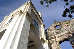 Ruines d'église de rue Paul Photographie stock libre de droits