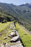 Ruines d'Inca de Choquequirao. Photographie stock