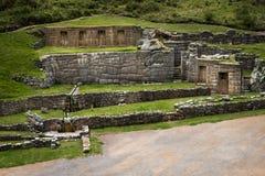 Ruines d'Inca de Tambomachay, près de Cusco, au Pérou Images stock