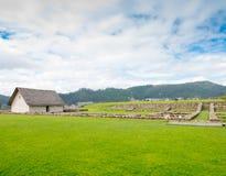 Ruines d'Inca en parc archéologique Cuenca Equateur de Pumapungo photo libre de droits