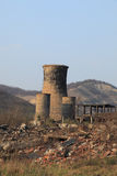 Ruines d'industrie lourd photo stock