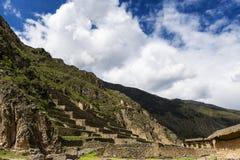 Ruines d'Ollantaytambo au Pérou Photographie stock