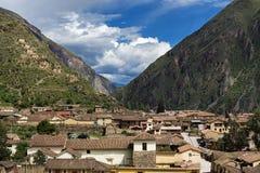 Ruines d'Ollantaytambo au Pérou Image stock