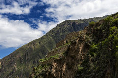 Ruines d'Ollantaytambo, au Pérou Image stock