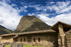 Ruines d'Ollantaytambo, dans la vallée sacrée Photographie stock