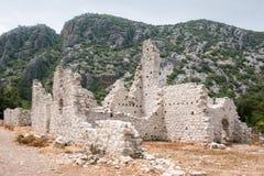 Ruines d'Olympos dans Cirali Image stock
