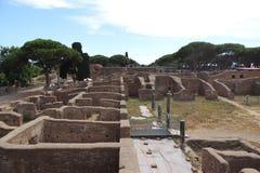 Ruines d'Ostia Antica Photographie stock libre de droits
