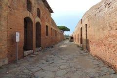 Ruines d'Ostia Antica Image stock