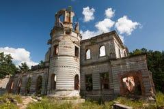 Ruines d'un château antique Tereshchenko Grod dans Zhitomir, Ukraine Palais de 19ème siècle Image stock