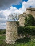 Ruines d'un château dans Sesena, La Mancha, Espagne de la Castille images libres de droits