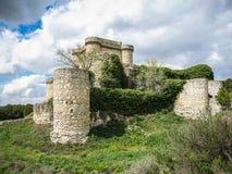 Ruines d'un château dans Sesena, La Mancha, Espagne de la Castille Photos libres de droits