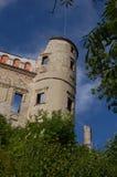 Ruines d'un château de Janowiec de la Renaissance en Voïvodie de Lublin, Pologne Photo stock