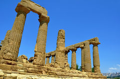 Ruines d'un temple grec Photo stock