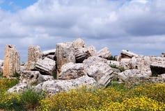Ruines d'un temple grec doric dans Selinunte Photographie stock
