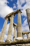 Ruines d'un temple romain Photo libre de droits