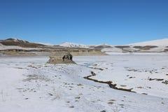 Ruines d'une église arménienne antique Images libres de droits