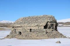 Ruines d'une église arménienne antique Photographie stock