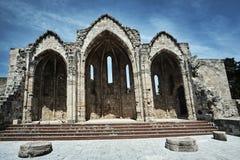 Ruines d'une église médiévale Image stock