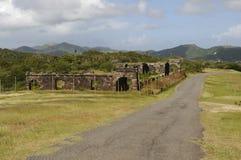 Ruines d'une vieille construction de casernes Images libres de droits