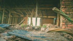 Ruines d'une vieille grande usine ruinée Image libre de droits