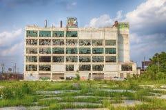 Ruines d'usine de Detroit Images libres de droits