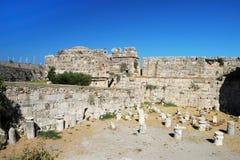 Ruines dans la ville de Kos Images stock
