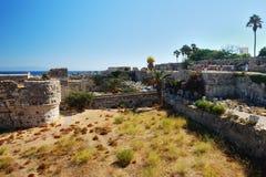 Ruines dans la ville de Kos Photographie stock