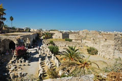 Ruines dans la ville de Kos Photo libre de droits