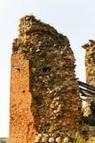 Ruines dans le Krevo, Belarus Images stock
