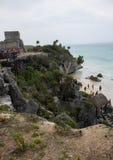 Ruines dans Tulum Mexique Photographie stock libre de droits