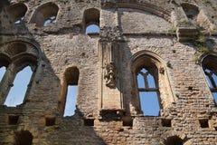 Ruines de 12ème siècle de château de Rochester Château et ruines des fortifications Kent, Angleterre du sud-est Images libres de droits