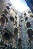 Ruines de 12ème siècle de château de Rochester Château et ruines des fortifications Kent, Angleterre du sud-est Photos stock