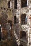 Ruines de 12ème siècle de château de Rochester Château et ruines des fortifications Kent, Angleterre du sud-est Image stock