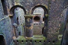 Ruines de 12ème siècle de château de Rochester Château et ruines des fortifications Kent, Angleterre du sud-est Image libre de droits
