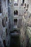 Ruines de 12ème siècle de château de Rochester Château et ruines des fortifications Kent, Angleterre du sud-est Images stock
