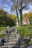 Ruines de bac de harpistes en jour d'automne Photo stock