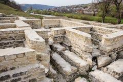 Ruines de bain public, vieil Orhei, Moldau photos libres de droits