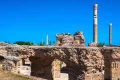 Ruines de Bath d'Antonine à Carthage, Tunisie Photographie stock libre de droits