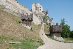 Ruines de Beckov Image libre de droits