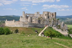 Ruines de Beckov, Slovaquie Photos stock