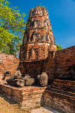 Ruines de Bouddha à Ayutthaya Photo stock