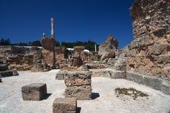 Ruines de Carthage, Tunisie Photos libres de droits
