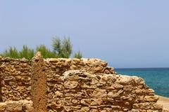 Ruines de Carthaginois dans la fève de chapeau, Tunisie image libre de droits