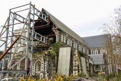 Ruines de cathédrale de Christchurch Photos libres de droits
