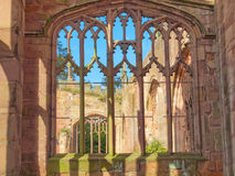Ruines de cathédrale de Coventry Photos libres de droits