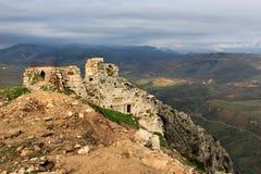 Ruines de château de Beaufort au Liban Photo stock