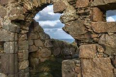 Ruines de château de Boddam Aberdeenshire, Ecosse, R-U image libre de droits