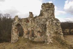 Ruines de château d'Aizkraukle Photo libre de droits
