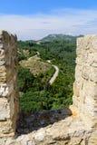 Ruines de château d'Angelokastro Photos stock