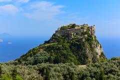 Ruines de château d'Angelokastro Image libre de droits